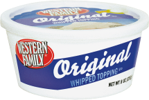 Western Family 8 oz. Whipped Topping product image.