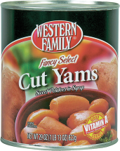 Western Family 29 oz. Cut Yams product image.