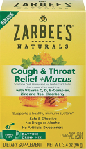Zarbee's 6 ct. or 2-4 oz. Cold Remedies product image.